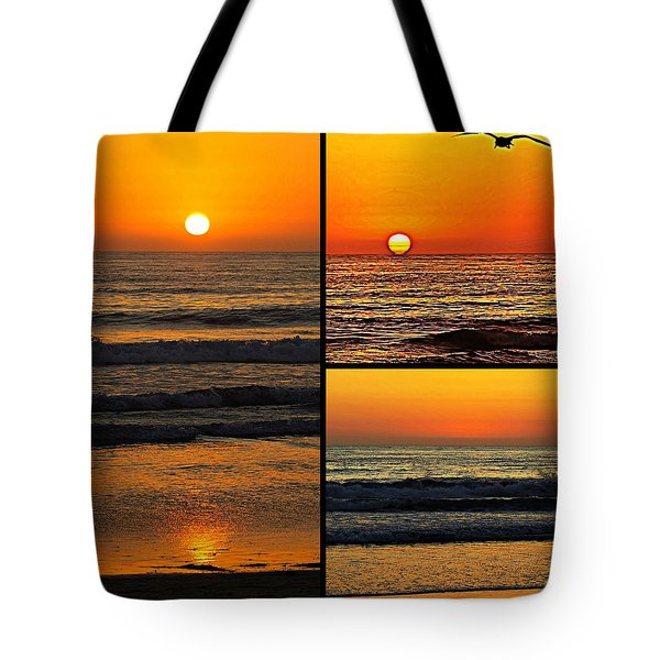 Sunset Collage Tote Bag by Sharon Soberon