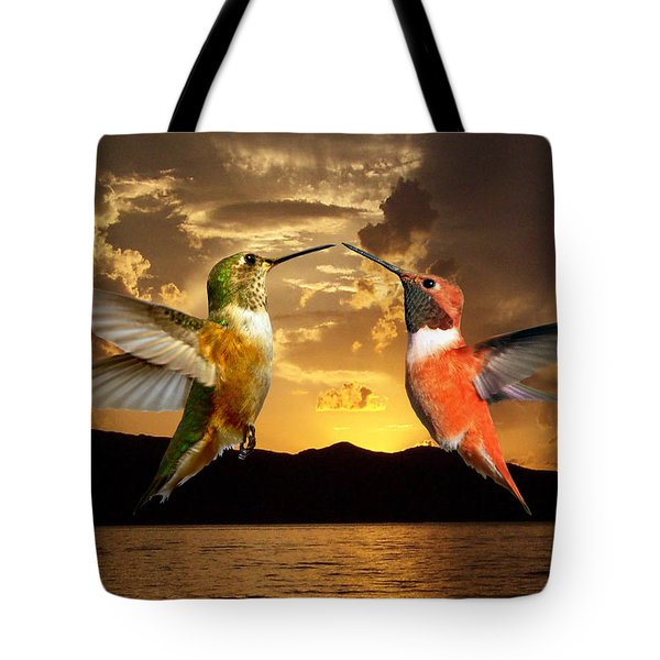 Sunset Courtship Tote Bag