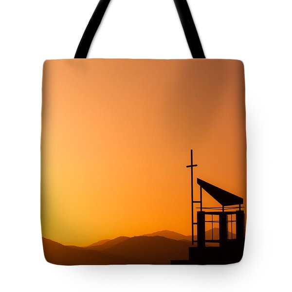 Sunset Cross Tote Bag