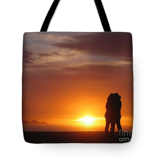 Tote Bag featuring the photograph Sunset Cuddle by James B Toy