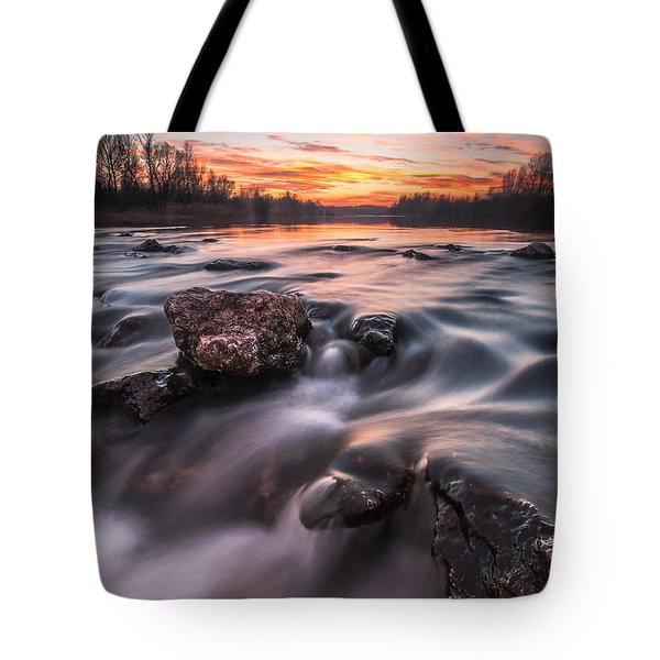 Sunset Tote Bag by Davorin Mance