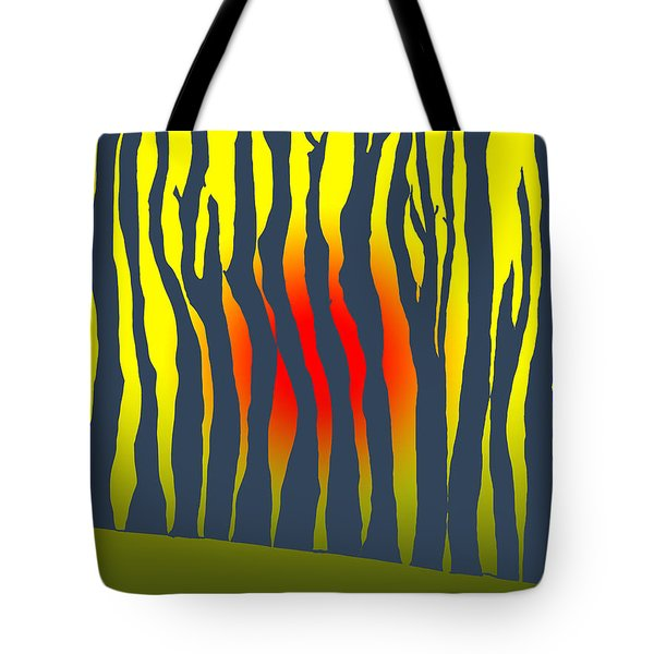 Tote Bag featuring the photograph Sunset Deep In The Forest by Haleh Mahbod