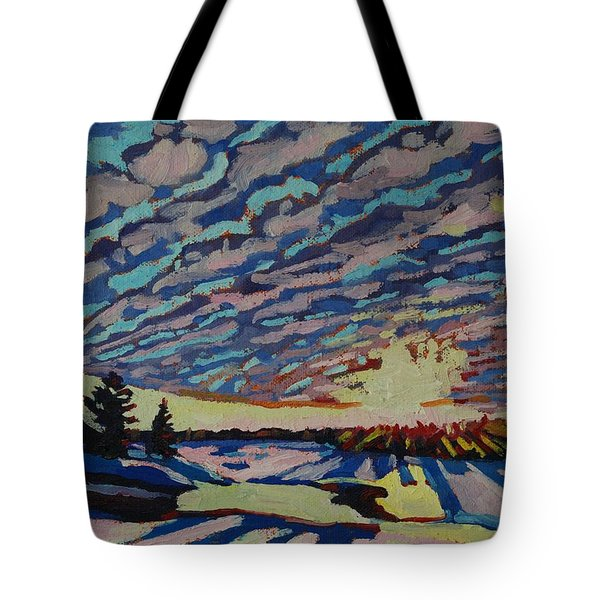 Sunset Deformation Tote Bag by Phil Chadwick