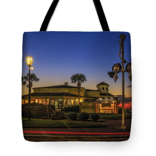 Sunset Diner Tote Bag by Paula Porterfield-Izzo