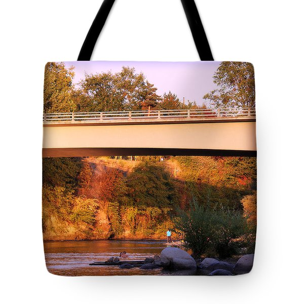 Tote Bag featuring the photograph Sunset Dip by Melanie Lankford Photography