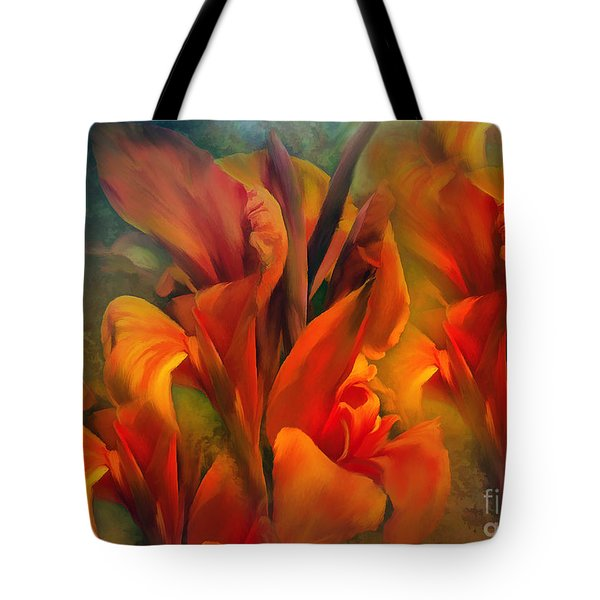 Tote Bag featuring the painting Sunset by Elaine Manley