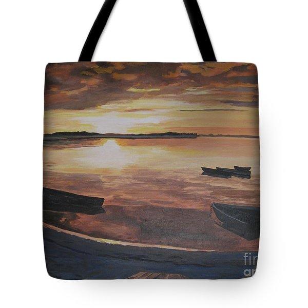 Sunset Evening Tide Tote Bag