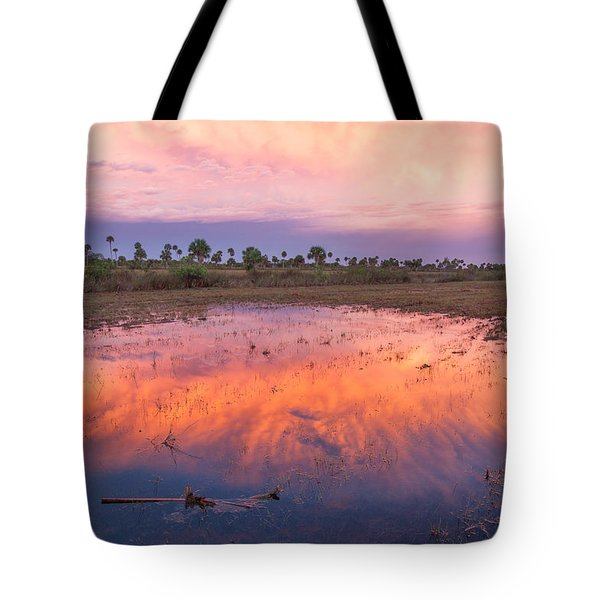 Everglades Afterglow Tote Bag by Doug McPherson