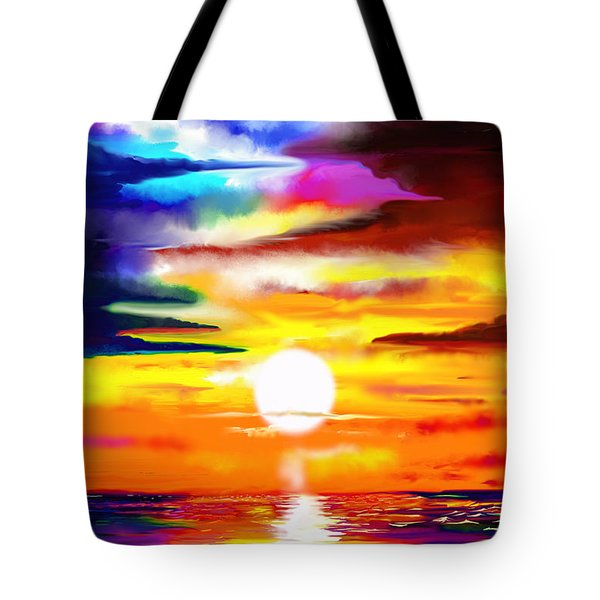Sunset Explosion Tote Bag