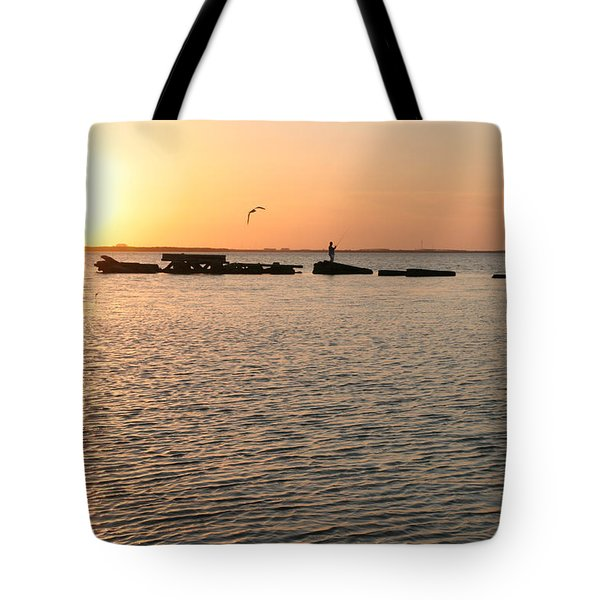 Sunset Fish Tote Bag