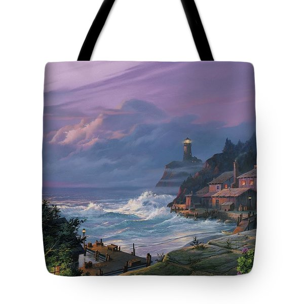 Sunset Fog Tote Bag by Michael Humphries