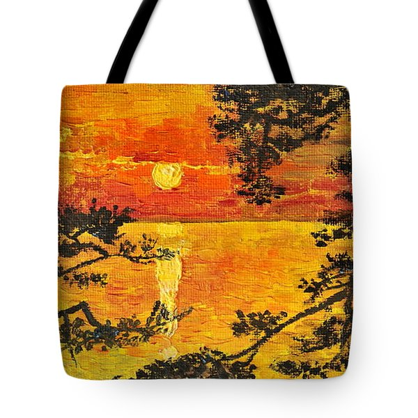 Sunset For My Parents Tote Bag by Teresa Wegrzyn
