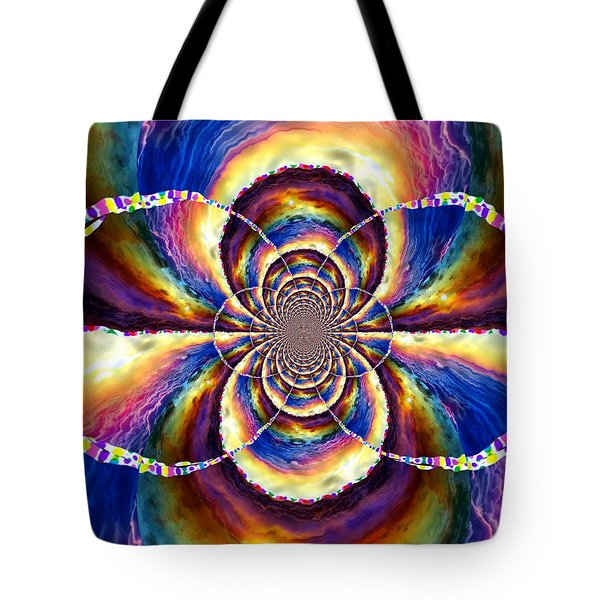 Sunset Fractal Tote Bag