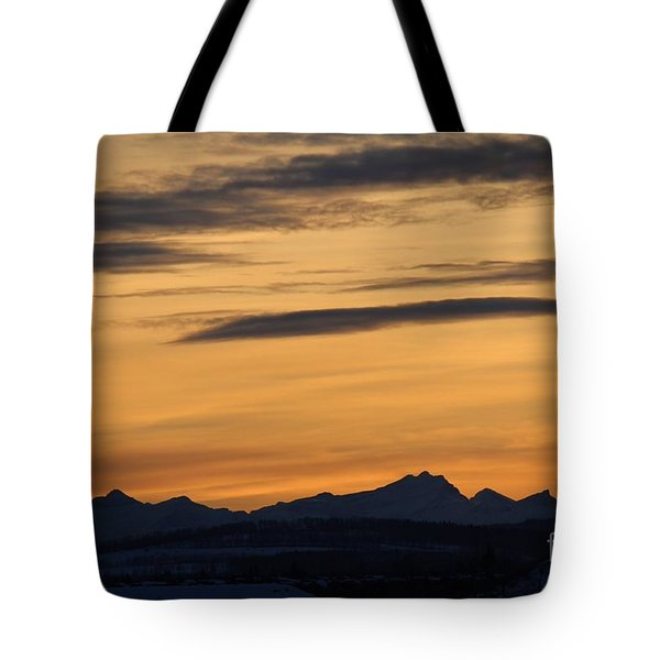 Sunset From 567 Tote Bag