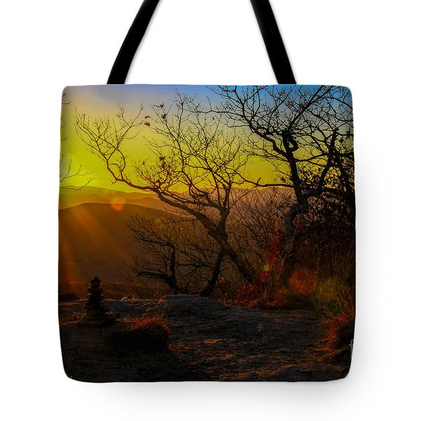 Sunset From Blood Mountain Tote Bag