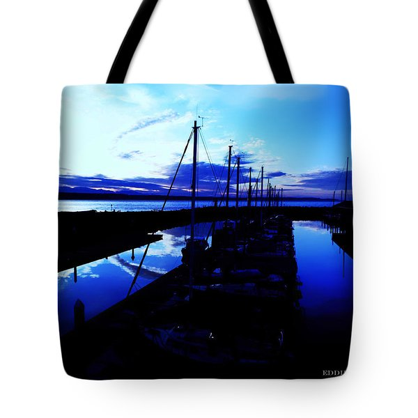 Tote Bag featuring the photograph Sunset From Edmonds Washington Boat Marina by Eddie Eastwood