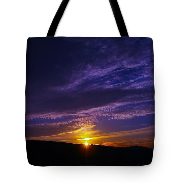 Sunset From Lyle Wa Tote Bag by Jeff Swan