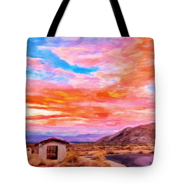 Sunset From Palm Canyon Tote Bag by Michael Pickett