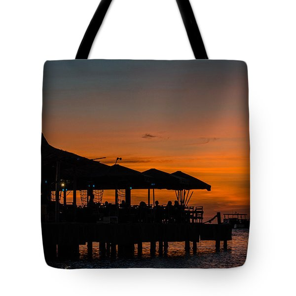 Sunset From Pelican Pier Tote Bag