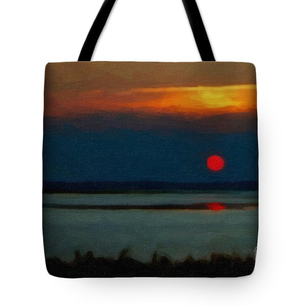 Tote Bag featuring the photograph Sunset by Gerlinde Keating - Galleria GK Keating Associates Inc