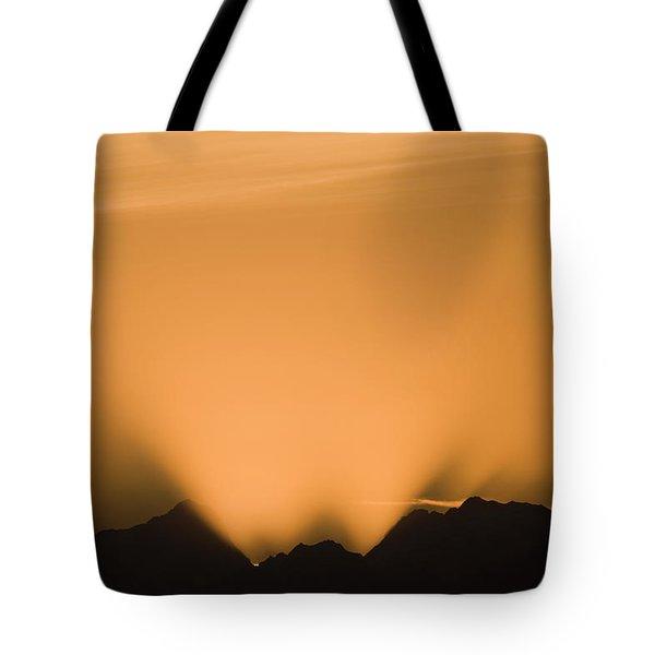 Sunset, Glacier Bay National Park Tote Bag