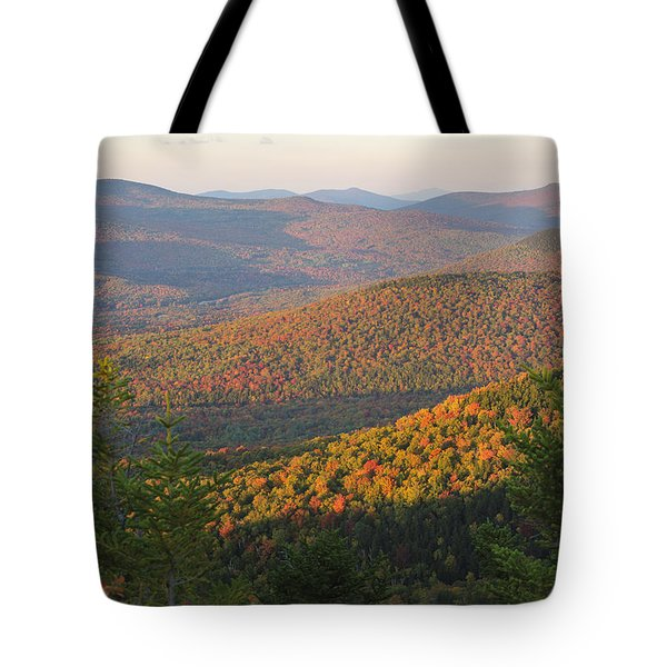 Sunset Glow Over The Autumn Landscape Tote Bag