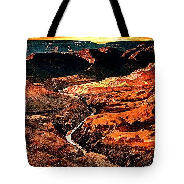 Sunset Grand Canyon West Rim Tote Bag