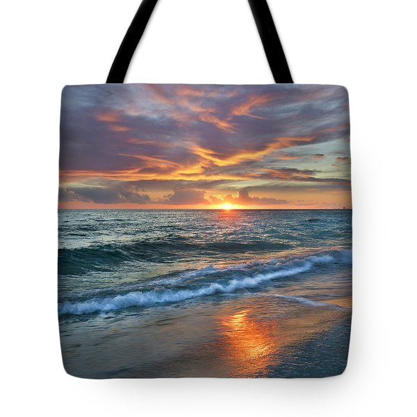 Tote Bag featuring the photograph Sunset Gulf Islands National Seashore by Tim Fitzharris