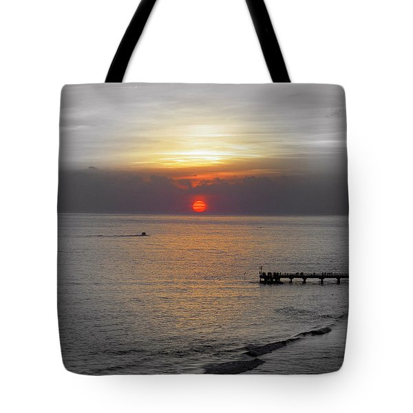 Tote Bag featuring the photograph Sunset  by Haleh Mahbod