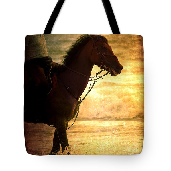 Sunset Horse Tote Bag by Loriental Photography
