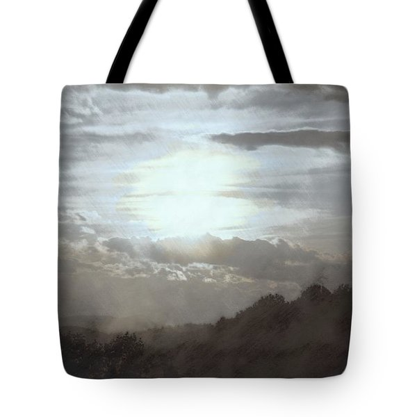 Tote Bag featuring the photograph Sunset Impressions Over The Blue Ridge Mountains by Photographic Arts And Design Studio