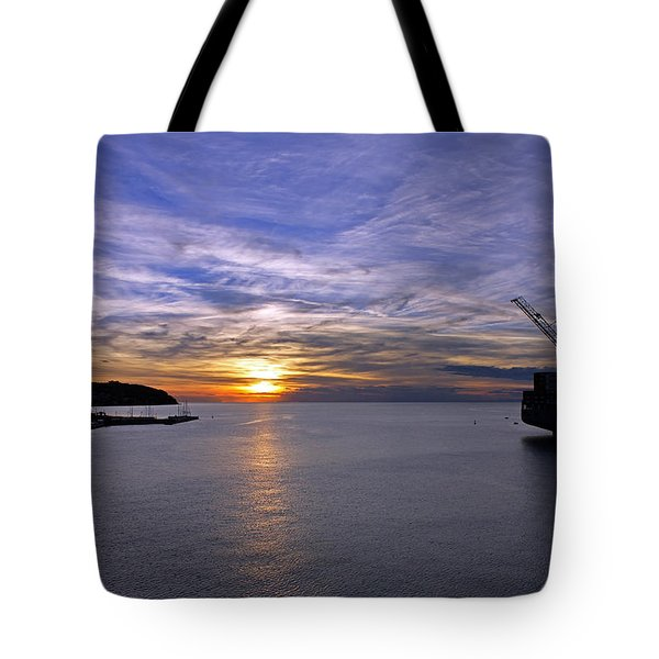Sunset In Adriatic Tote Bag