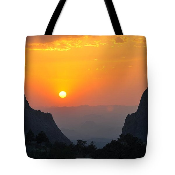 Sunset In Big Bend National Park Tote Bag