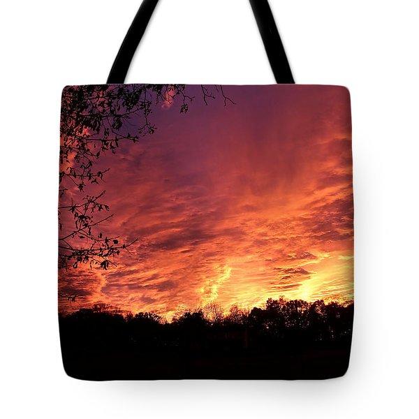 Sunset In Blue Ridge Foothills Tote Bag