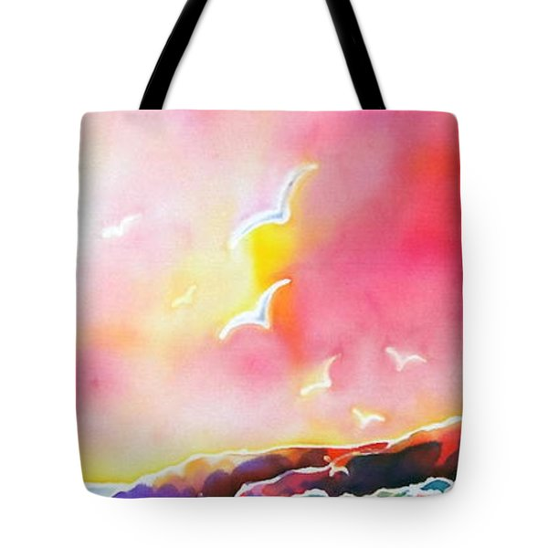 Sunset In Costa Brava Tote Bag