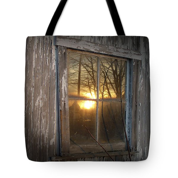 Sunset In Glass Tote Bag by Cynthia Lassiter