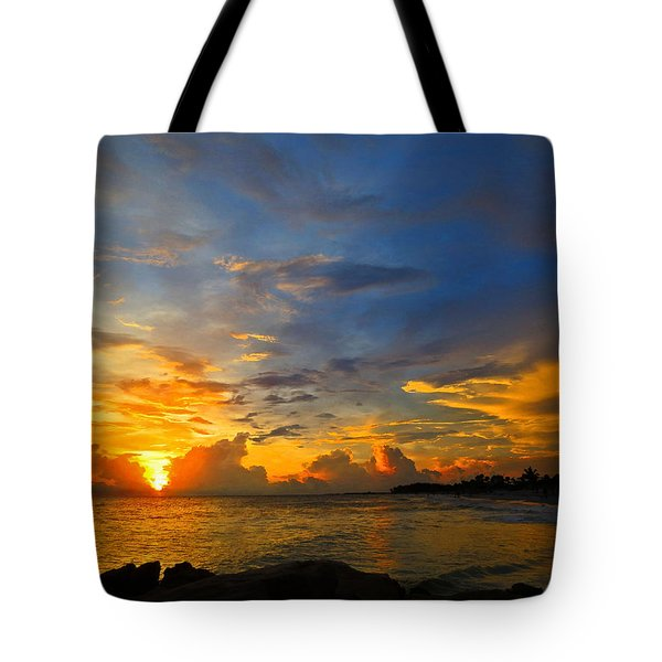 Sunset In Paradise - Beach Photography By Sharon Cummings Tote Bag