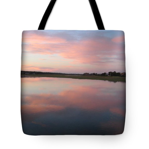 Sunset In Pink And Blue Tote Bag