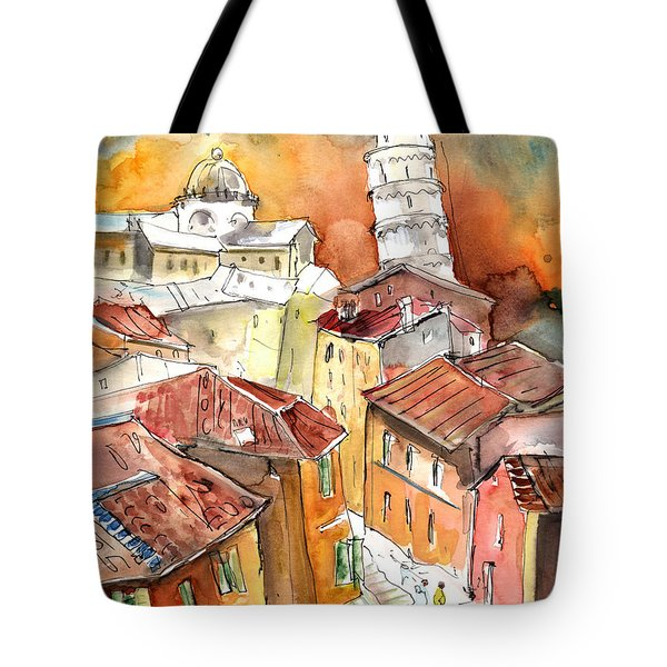 Sunset In Pisa Tote Bag by Miki De Goodaboom