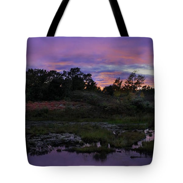 Sunset In Purple Along Highway 7 Tote Bag