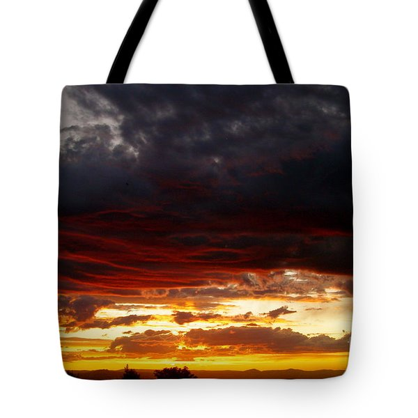 Sunset In Red Tote Bag