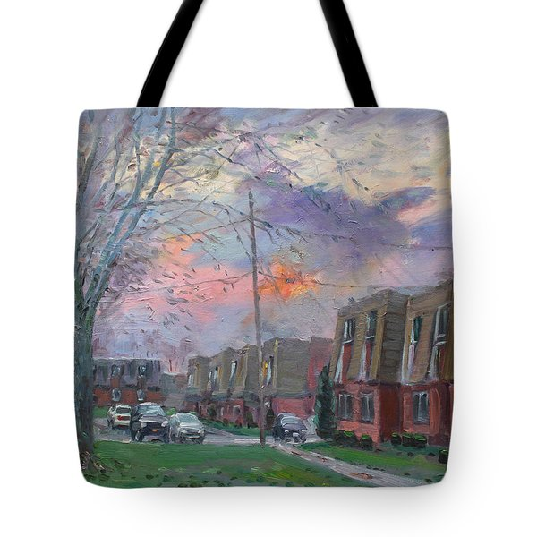 Sunset In Royal Park Apartments Tote Bag by Ylli Haruni