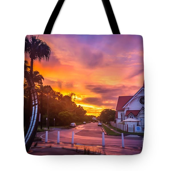 Tote Bag featuring the photograph Sunset In Sandgate by Peta Thames