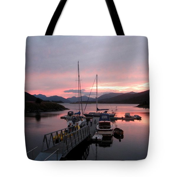Sunset In Scotland Tote Bag by Joyce Woodhouse