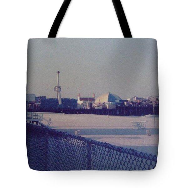 Sunset In Seaside Heights Nj Tote Bag by Joann Renner