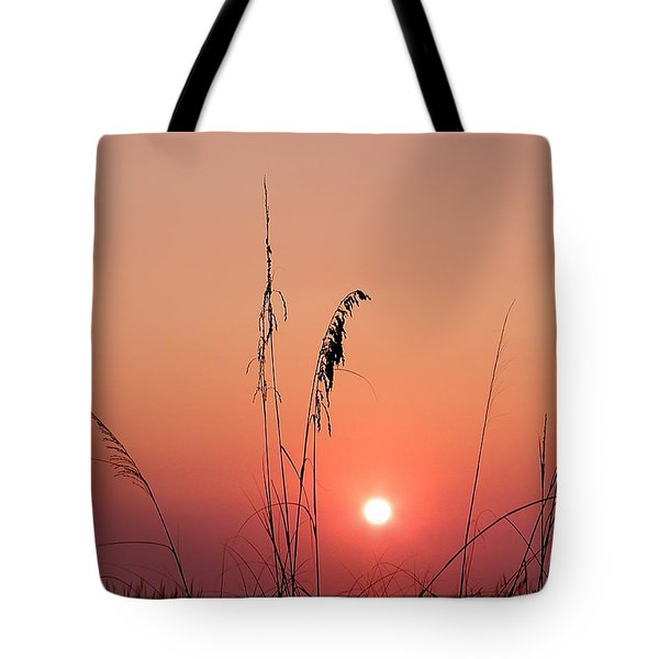 Sunset In Tall Grass Tote Bag by Bill Cannon