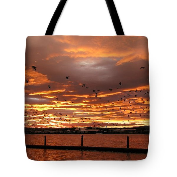 Sunset In Tauranga New Zealand Tote Bag by Jola Martysz