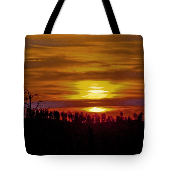 Tote Bag featuring the photograph Sunset In The Black Hills 2 by Cathy Anderson