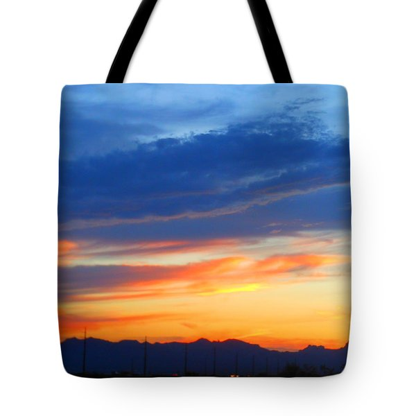 Sunset In The Black Mountains Tote Bag