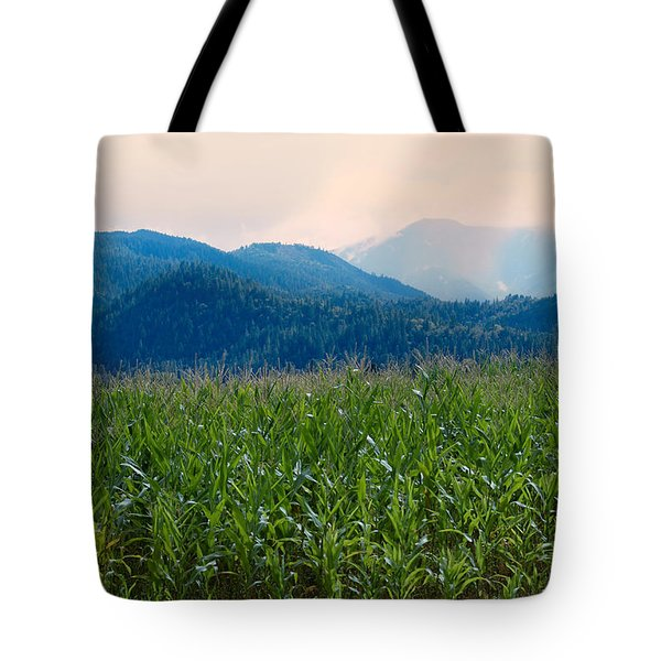 Sunset In The Cornfields Tote Bag by Melanie Lankford Photography